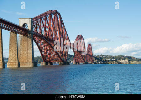 South Queensferry, Scotland, UK. 2nd October, 2016. The majestic Forth Rail Bridge crossing from South Queensferry - Stock Photo