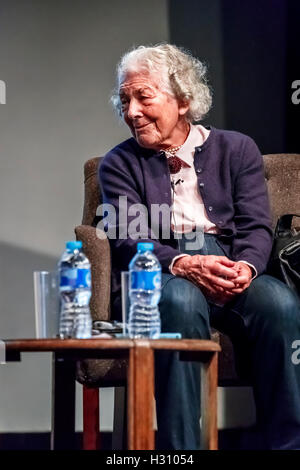 Henley-on-Thames, UK. 2nd October, 2016. Judith Kerr OBE, the famous and popular children's author and illustrator, - Stock Photo