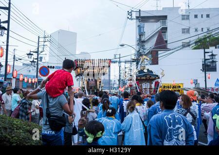 2nd October, 2016. Dokan Matsuri Festival is held, Isehara, Kanagawa, Japan. This festival comes from Dokan Ota - Stock Photo