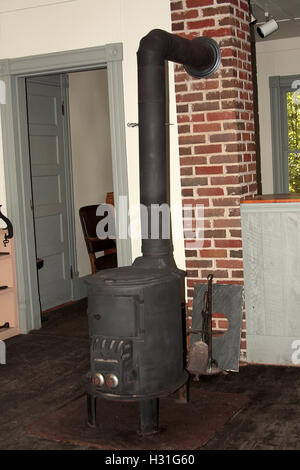 Old wood stove in historical museum in Appomattox, Virginia - Stock Photo