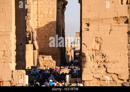 Egypt, Luxor. The Karnak Temple Complex in Luxor is dedicated to the god Amun, and is one of the most important - Stock Photo
