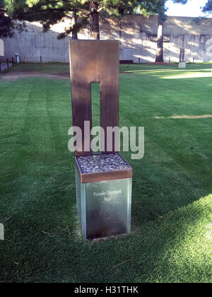 Symbolic Office Chair at the Oklahoma City Bombing Memorial - Stock Photo