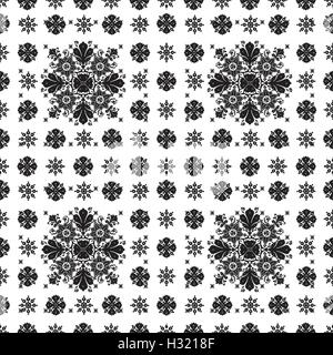 Vector abstract ethnic seamless floral pattern design for background or wallpaper - Stock Photo
