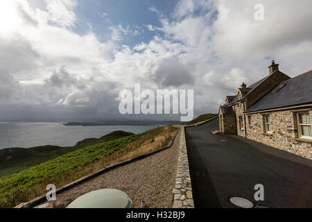 House in Horn Head overlooking Dunfanaghy Bay from Horn Head, County Donegal, Ireland - Stock Photo