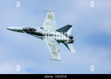 McDonnell Douglas F/A-18 Hornet twin-engine supersonic all-weather carrier-capable multirole combat jet - Stock Photo