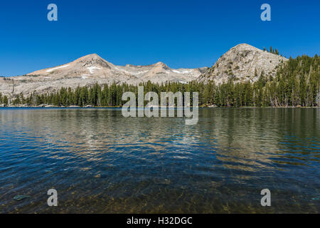 Lake of the Woods with Pyramid Peak and the Crystal Range in the Desolation Wilderness, Eldorado National Forest, - Stock Photo