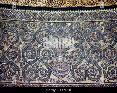 The Dome of the Rock, Jerusalem, interior mosaic ... Dome Of The Rock Interior Mosaic