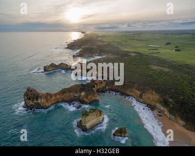 Australia cliffs coast dusk Great Ocean Road mood port ...
