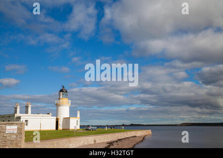 The Lighthouse at Chanonry Point on the Moray Firth, Scotland. - Stock Photo