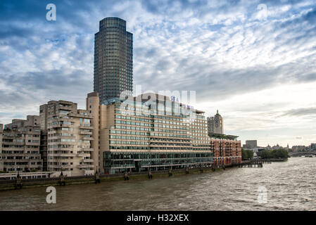Sea Containers house on the River Thames, London - Stock Photo