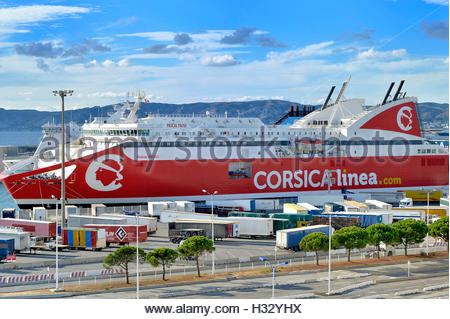 Marseille, Arenc area in the 2d district,  port of Marseille, corsica linea - Stock Photo