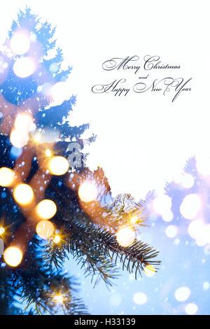Art christmas tree and holidays light blue snow background stock art christmas holidays background tree light stock photo sciox Images