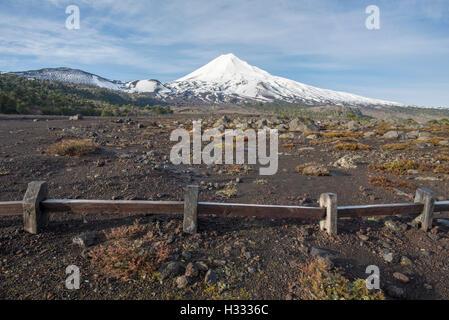 LLaima volcano, araucania, Chile. Conguillio National Park. - Stock Photo