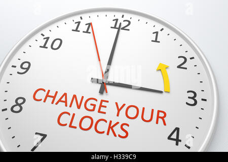 Change Your Clocks - Stock Photo