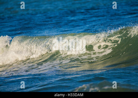 A Breaking Wave Near Waimea Bay On The North Shore Stock