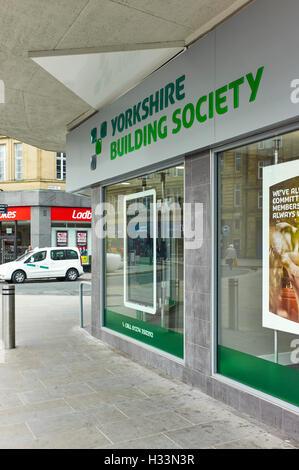 Yorkshire Building Society in Bradford - Stock Photo