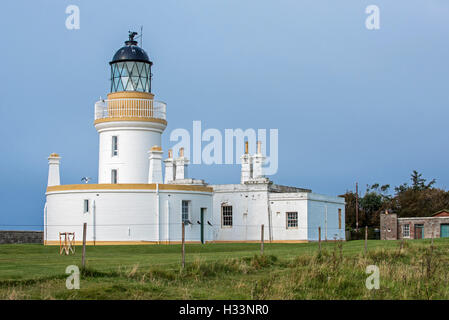 Lighthouse at Chanonry Point on the Black Isle, Moray Firth, Scotland, UK, Scotland, UK - Stock Photo