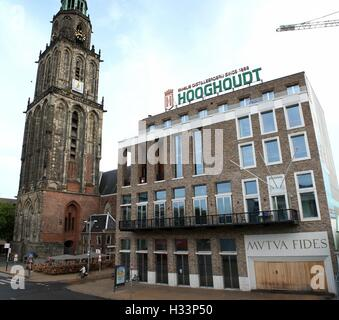 Society building Mutua Fides seat of oldest Dutch student association Vindicat Atque Polit, Grote Markt,  Groningen, - Stock Photo