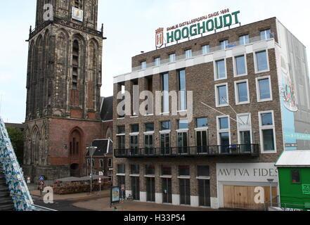 Society building 'Mutua Fides', seat of Dutch student association Vindicat Atque Polit, Grote Markt,  Groningen, - Stock Photo