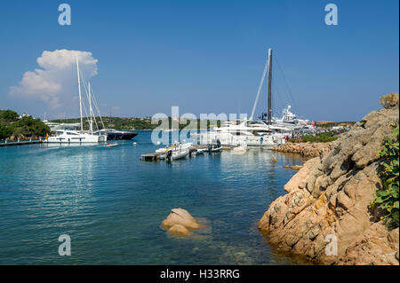 yacht harbour Porto Cervo Costa Smeralda Sardinia Italy ...