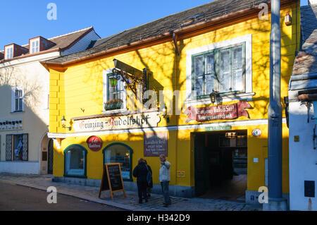 Wien, Vienna: Heuriger ( wine tavern ) in Grinzing, 19., Wien, Austria - Stock Photo