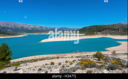 San Clemente Reservoir at Huescar, Granada  Province, Andalusia, Spain - Stock Photo