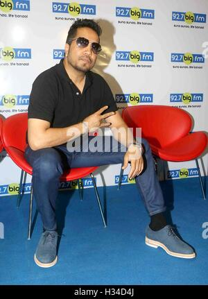 Bollywood singer Mika Singh during a meet and greet session at 92.7 BIG FM for his newly released single Chhori - Stock Photo