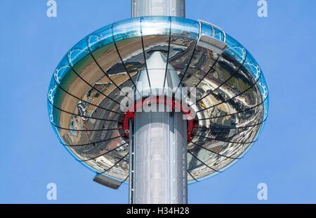i360. British Airways i360 Observation Tower in Brighton, East Sussex, England, UK. i360 Brighton i360. i360 tower. - Stock Photo
