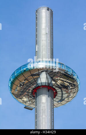 i360. British Airways i360 Observation Tower at it's highest position  in Brighton, East Sussex, England, UK. i360 - Stock Photo