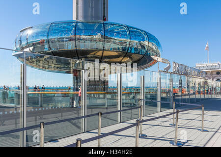 i360. British Airways i360 Observation Tower at ground level in Brighton, East Sussex, England, UK. - Stock Photo