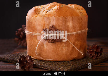 Panettone - Christmas sweet bread loaf from Milan in Italy ...