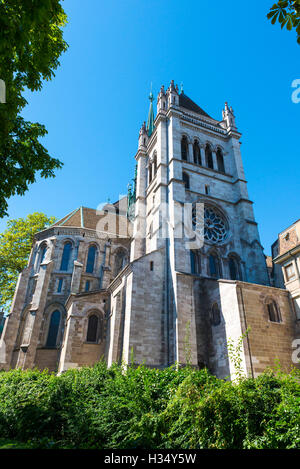St. Pierre Cathedral in Geneva, Switzerland - Stock Photo