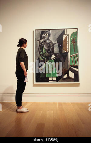 National Portrait Gallery, London, Britain 5 Oct 2016. Woman by the Window 1956. Picasso Portraits at the National - Stock Photo