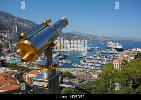 View of Harbour, Monaco, Mediterranean, Europe - Stock Photo