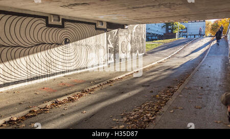Sunny autumn afternoon in Innsbruck - Stock Photo
