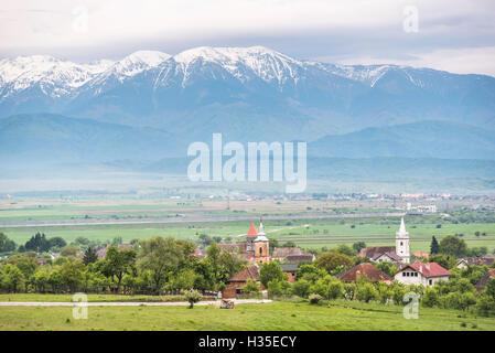 Countryside near Sibiu, Transylvania, Romania - Stock Photo