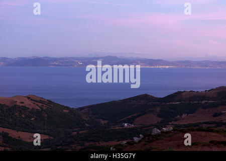 Andalusia, Spain. A general view of the north of Morocco and South of Spain. Pako Mera - Stock Photo