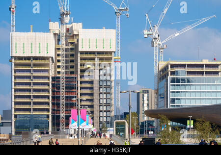 Headquarters buildings for Transport For London & the Financial Conduct Authority under construction in Stratford - Stock Photo