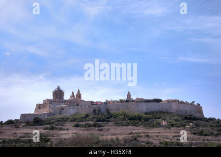 cathedral, Mdina, Malta - Stock Photo
