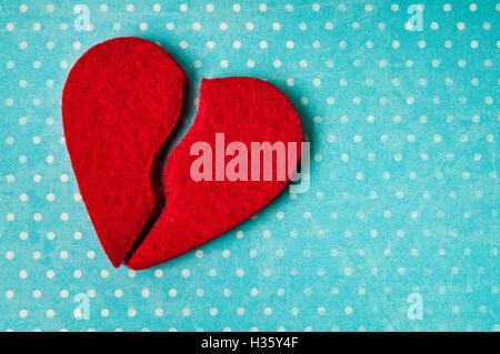 broken heart, concept for divorce, end of relationship, love story finished