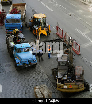 repair-road works on the carriageway - Stock Photo