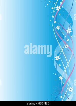 ribbons with colors on a blue background - Stock Photo