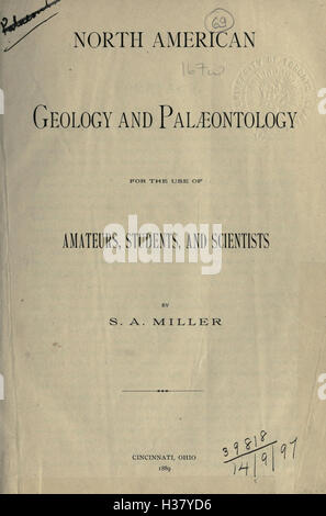 North American geology and palæontology for the use of amateurs, students, and scientists BHL171 - Stock Photo