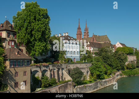 The Cathedral, Basel, Switzerland - Stock Photo