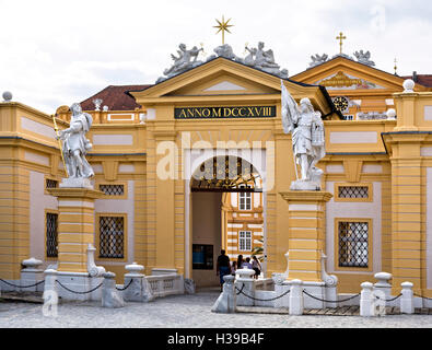 Main entrance to the Benedictine Abbey at Melk, Danube Valley, Austria