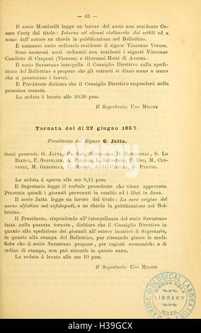 Bollettino della Società dei naturalisti in Napoli (Page 63) BHL62 - Stock Photo