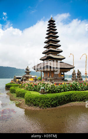 Indonesia, Bali, Candikuning Pura Ulun Danu Bratan, the temple on the lake - Stock Photo