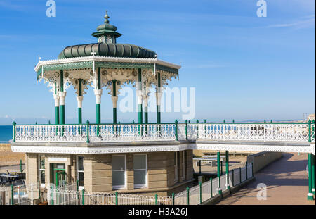 The Bandstand at Brighton on the seafront after restoration, in Brighton, East Sussex, England, UK. - Stock Photo