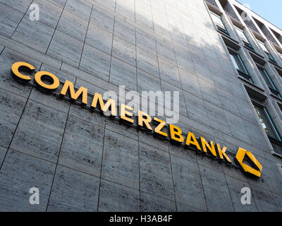 Commerzbank Dusseldorf at the Konigsallee - Stock Photo
