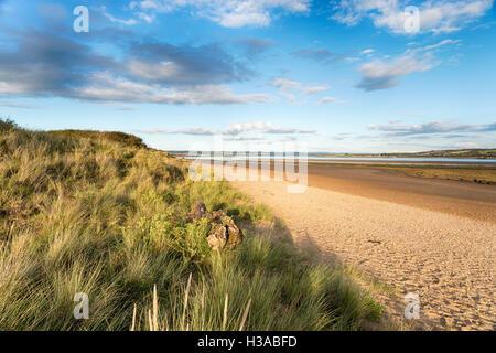 The beach at Braunton Burrows near Barnstaple on the Devon coast - Stock Photo